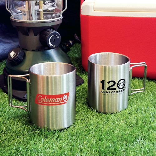 COLEMAN DOUBLE STAINLESS MUG 120TH YRS LIMITED EDITION 2021 (RED) 350ML