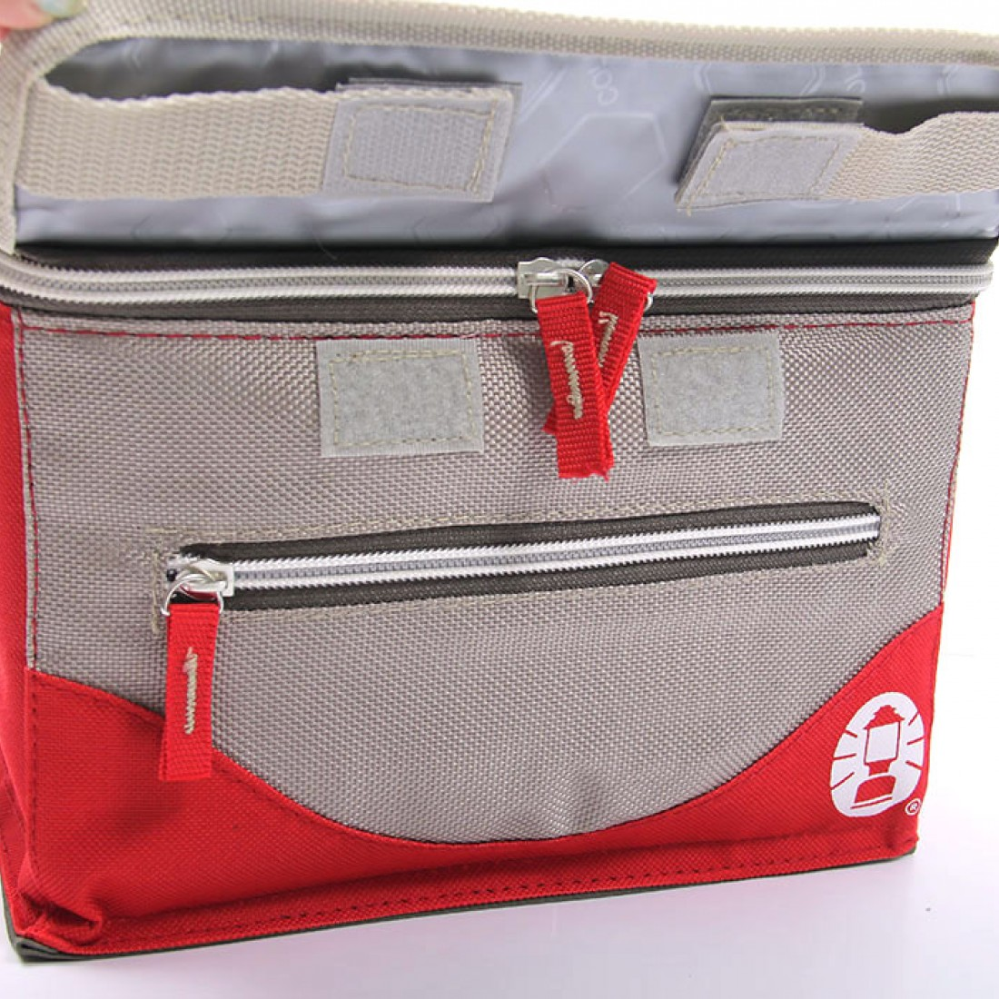 Coleman 4L Collapsible Soft Cooler (Beige/Red)